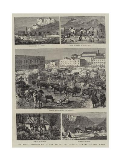 The Kaffir War, Sketches in Cape Colony, the Transvaal, and on the Zulu Border-Alfred Chantrey Corbould-Giclee Print