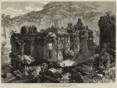 The Kailas, in the Cave Temples of Ellora, Western India--Giclee Print