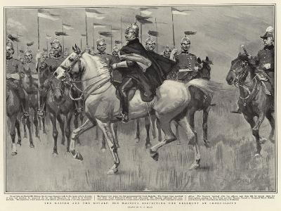 The Kaiser and the Royals, His Majesty Inspecting the Regiment at Shorncliffe-William T^ Maud-Giclee Print