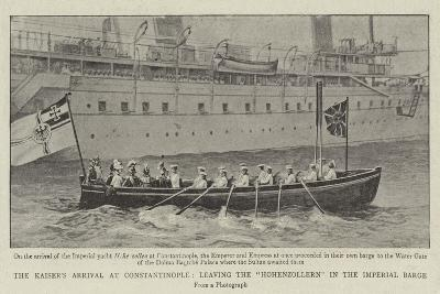 The Kaiser's Arrival at Constantinople, Leaving the Hohenzollern in the Imperial Barge--Giclee Print
