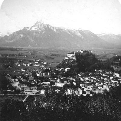 The Kapuzinerberg, Salzburg, Austria, C1900-Wurthle & Sons-Photographic Print