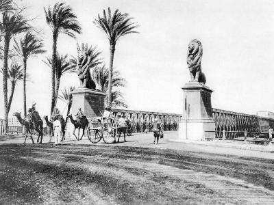 The Kasr-El-Nile Bridge, Cairo, Egypt, C1920S--Giclee Print