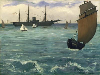 "The ""Kearsarge"" at Boulogne, 1864-Edouard Manet-Giclee Print"