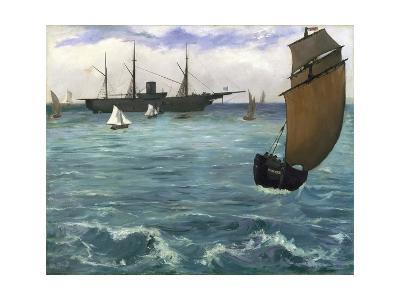 The 'Kearsarge' at Boulogne-Edouard Manet-Giclee Print