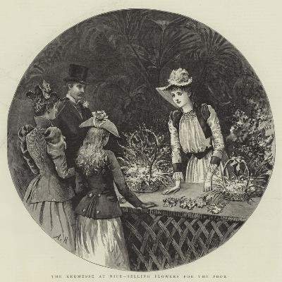 The Kermesse at Nice, Selling Flowers for the Poor-Arthur Hopkins-Giclee Print