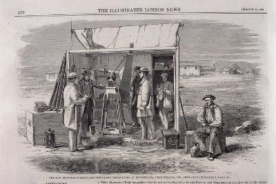 The Kew Heliograph Being Used in an Eclipse-Viewing Expedition to Spain, 1860--Giclee Print