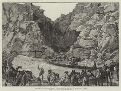 The Khartoum Expedition, on the Desert March, Lower Well at the Wells of Gakdul-William Heysham Overend-Giclee Print