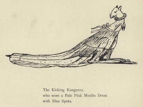 The Kicking Kangaroo-Edward Lear-Giclee Print