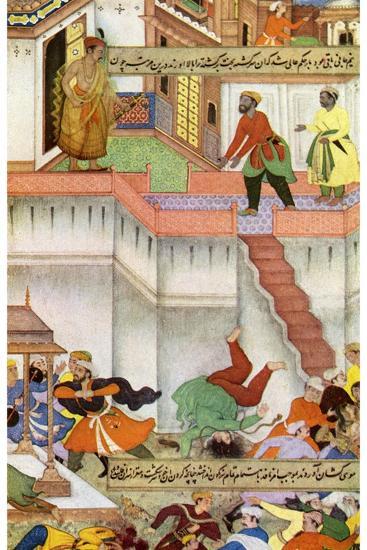 The Killing of Adham Khan by Akbar, C1600--Giclee Print