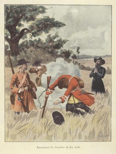The Killing of Rene-Robert Cavelier De La Salle, 1687-Louis Charles Bombled-Giclee Print