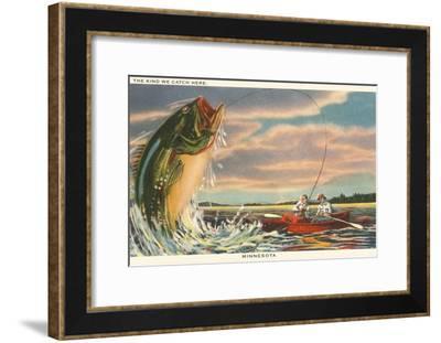 The Kind We Catch Here, Minnesota--Framed Art Print