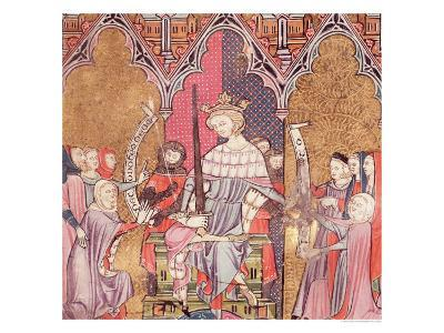 """The King Administering Justice, from """"Justiniani in Fortiatum""""--Giclee Print"""