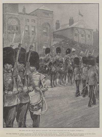 The King and His South African Veterans, the Guards Marching Past His Majesty, 27 October-Richard Caton Woodville II-Giclee Print