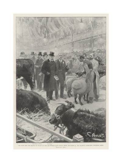 The King and the Prince of Wales at the Smithfield Club Cattle Show-G.S. Amato-Giclee Print