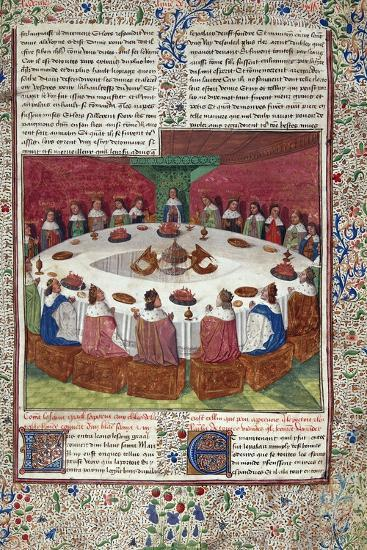 The King Arthur and the Knights of the round Table--Photographic Print