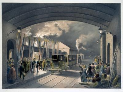 The King at New Cross Station, 1844-Unknown-Framed Giclee Print
