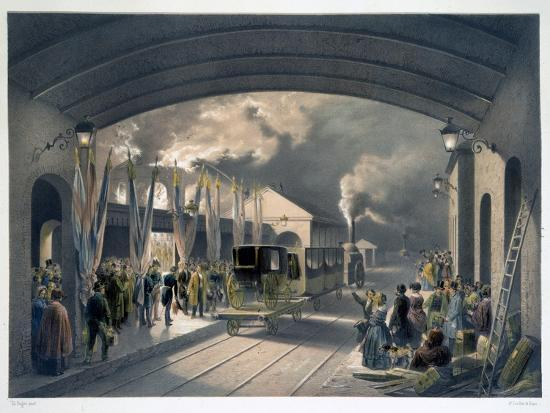 The King at New Cross Station, 1844-Unknown-Giclee Print