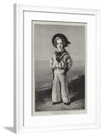 The King at the Age of Six-Franz Xaver Winterhalter-Framed Giclee Print