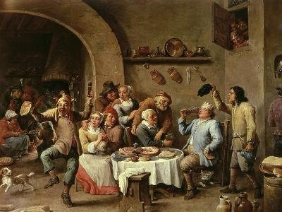 The King Drinks, Part of Flemish Festival-David Teniers the Younger-Giclee Print