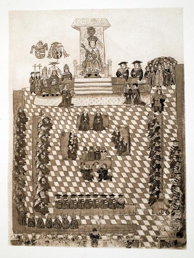 The King in Parliament, 1515, Pub. 1902--Giclee Print