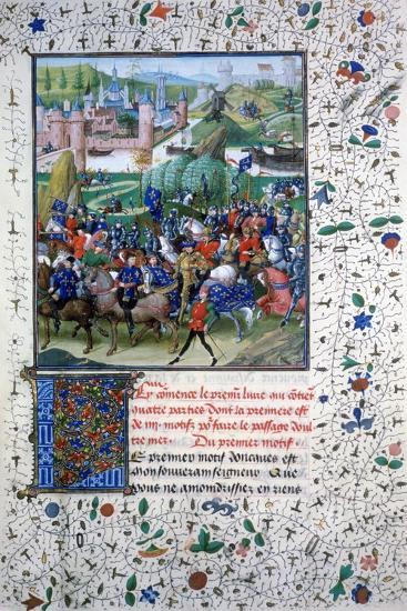 The King of France Leaving for the Crusades, C1336, (145)--Giclee Print