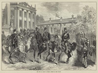 The King of Italy in Berlin, Review of the Guards--Giclee Print