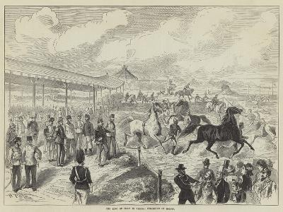 The King of Italy in Vienna, Exhibition of Horses--Giclee Print