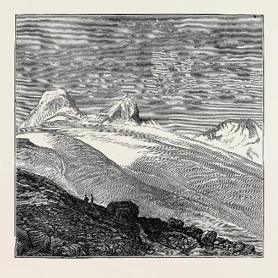 The King of Italy's Hunting Quarters in the Aosta Valley: Foot of the Glacier of Moncarné--Giclee Print