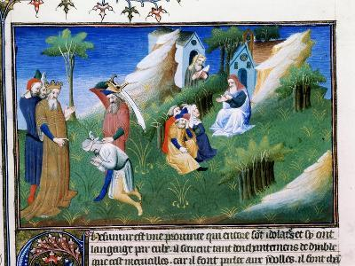 The King of Kashmir Dispenses Justice, Late 13th Century--Giclee Print