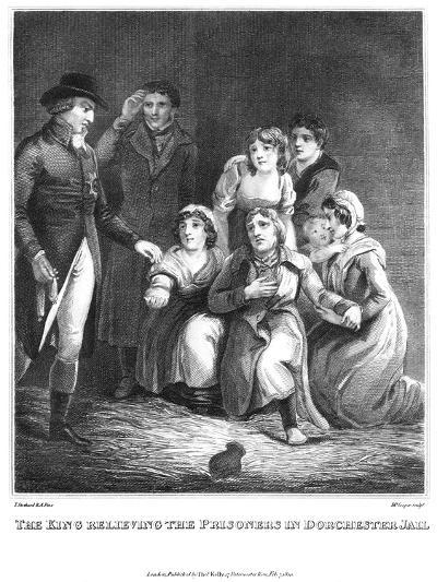 The King Relieving the Prisoners in Dorchester Jail, 1820-Cooper-Giclee Print