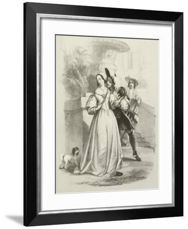 The King Reproved-Joseph Nash-Framed Giclee Print