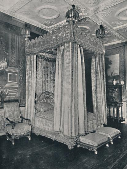 'The King's Bedroom at Knole. Bedstead Made for James I', 1928-Unknown-Photographic Print