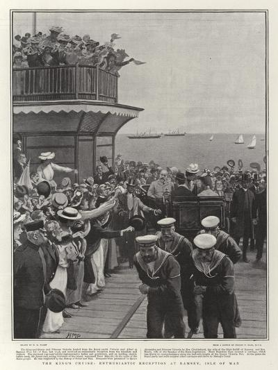 The King's Cruise, Enthusiastic Reception at Ramsey, Isle of Man-Henry Marriott Paget-Giclee Print