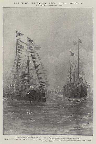 The King's Departure from Cowes, 6 August-Fred T. Jane-Giclee Print
