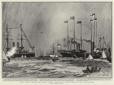 The King's Departure from Cowes, the Royal Yacht Leaving for Portsmouth-Charles Edward Dixon-Giclee Print