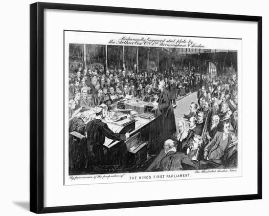 The King's First Parliament, 1902-1903--Framed Giclee Print