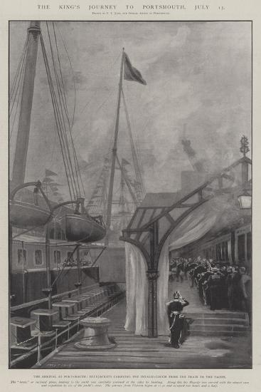 The King's Journey to Portsmouth, 15 July-Fred T. Jane-Giclee Print