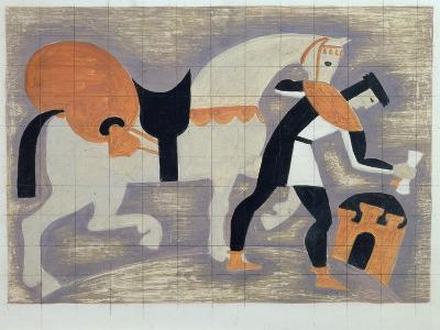 The King's Messenger, Ad 1482, 1935-John Armstrong-Giclee Print