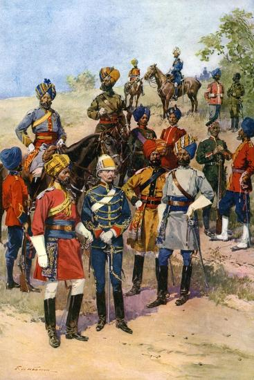 The King's Own Regiments of the Indian Army-Frederic De Haenen-Giclee Print