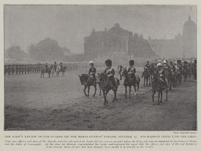 The King's Review of the Guards on the Horse Guards' Parade--Giclee Print