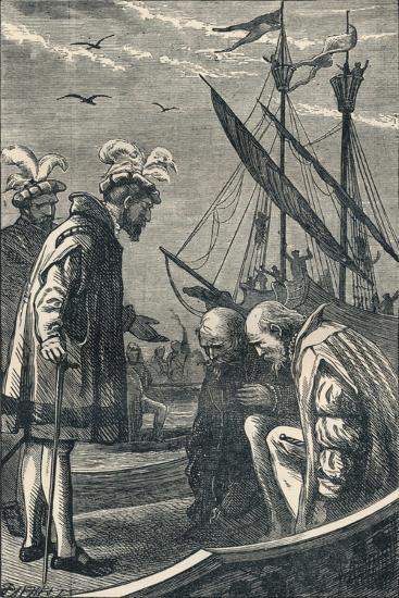 The King Visits Vasco Da Gama, 1904--Giclee Print