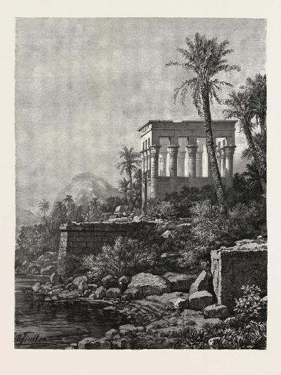 The Kiosk on the Island of Philae, Egypt, 1879--Giclee Print