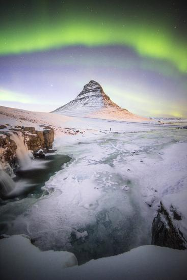The Kirkjufell Green Arch-Philippe Manguin-Photographic Print