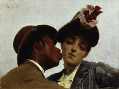 The Kiss, 1887-Theodore Jacques Ralli-Giclee Print
