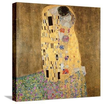 The Kiss, 1907-08-Gustav Klimt-Stretched Canvas Print