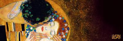 The Kiss, c.1907 (darkened detail)-Gustav Klimt-Art Print