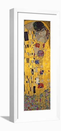 The Kiss, c.1907 (detail)-Gustav Klimt-Framed Art Print