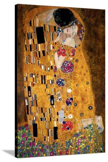The Kiss, c.1907 (detail)-Gustav Klimt-Stretched Canvas Print