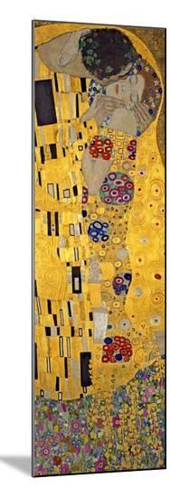 The Kiss, c.1907 (detail)-Gustav Klimt-Mounted Print