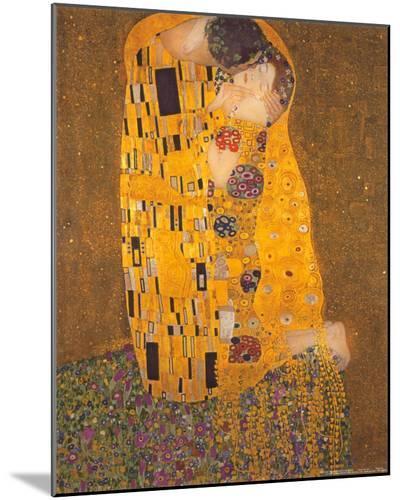 The Kiss, c.1907-Gustav Klimt-Mounted Print